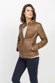 Jacheta din piele Jimmy Sanders MAS-18F CTW21005 CAMEL Bej