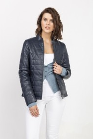 Jacheta din piele Jimmy Sanders MAS-18F CTW21005 NAVY Bleumarin