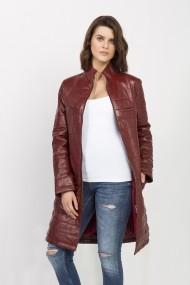 Jacheta din piele Jimmy Sanders MAS-18F CTW21006 BORDEAUX Bordo