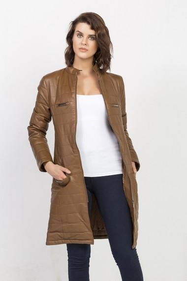 Jacheta din piele Jimmy Sanders MAS-18F CTW21006 CAMEL Bej