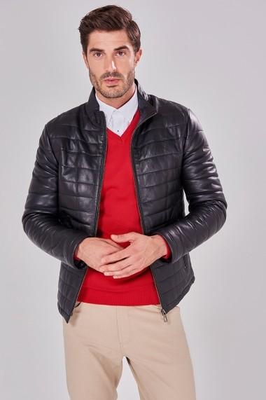 Jacheta din piele Jimmy Sanders 19W CTM22013 BLACK Negru