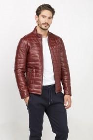 Jacheta din piele Jimmy Sanders 19W CTM22013 BORDEAUX Bordo