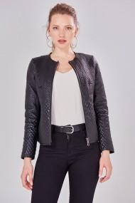 Jacheta din piele Jimmy Sanders 19W CTW21012 BLACK Negru