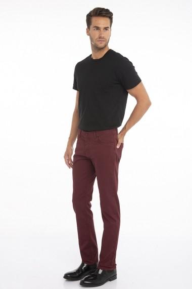 Pantaloni Jimmy Sanders 19W PM11002 BORDEAUX Bordo