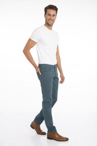 Pantaloni Jimmy Sanders 19W PM11002 PETROL BLUE Albastru