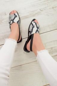 Sandale plate ShoesTime 19Y 818 Alb