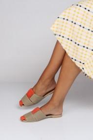 Papuci ShoesTime 19Y 93 Portocaliu