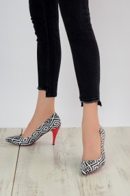 Pantofi cu toc ShoesTime 909 Print