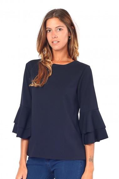 Bluza din poliester Assuili ASC913 bleumarin