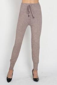 Pantaloni sport din casmir si viscoza Assuili ASF927 bej