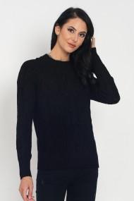 Pulover din casmir si viscoza ASF946 negru