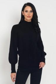 Pulover din casmir si viscoza Assuili ASF948 negru