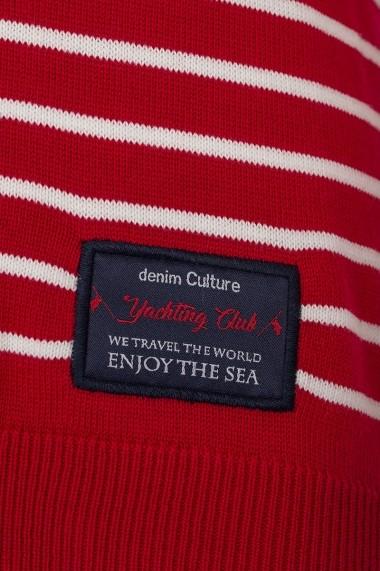 Pulover Denim Culture B-1300-6 Rosu