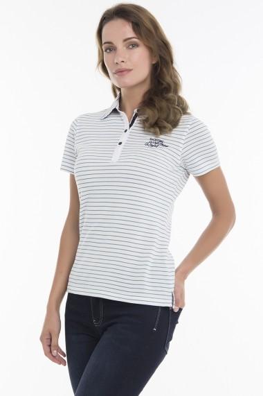 Tricou Polo Denim Culture B-250-3-9 Alb