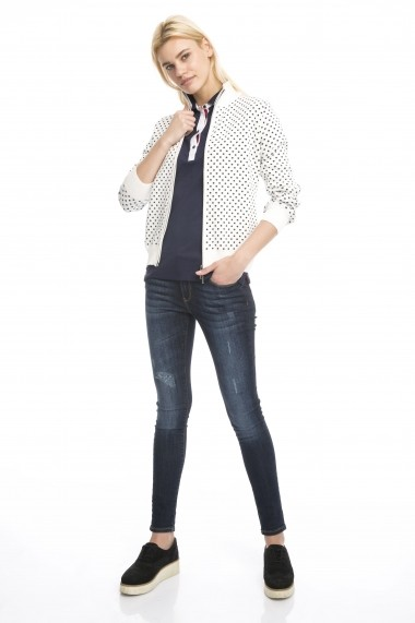 Cardigan Denim Culture B-42125-32 Ecru