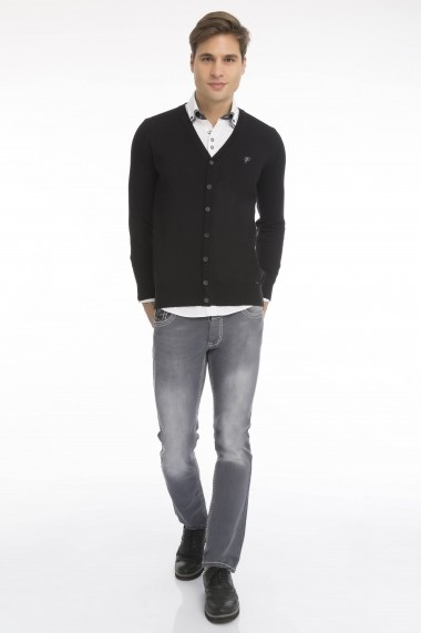 Cardigan Denim Culture B-43800-1 Negru