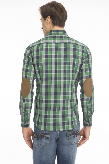 Camasa Denim Culture B-7527-11 Verde - els