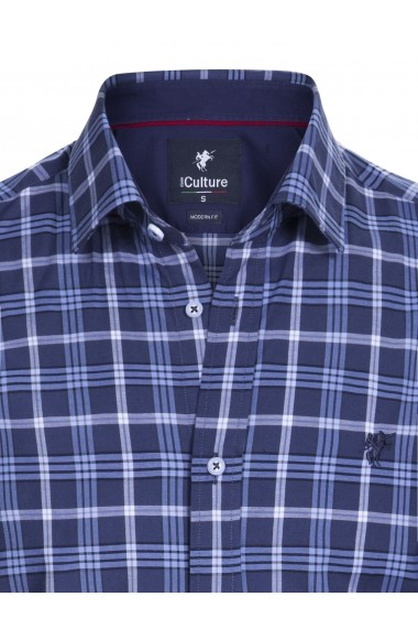 Camasa Denim Culture B-7649 Albastru
