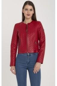 Jacheta din piele IPARELDE MAS-B103 Red Rosu