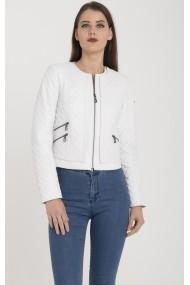 Jacheta din piele IPARELDE MAS-B103 White Alb