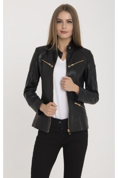 Jacheta din piele IPARELDE MAS-B16 Black Negru