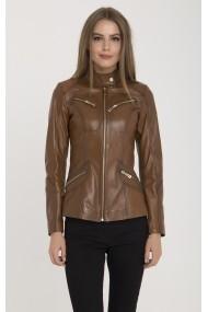 Jacheta din piele IPARELDE MAS-B16 Light Brown Maro