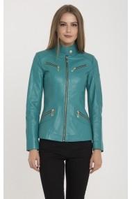 Jacheta din piele IPARELDE MAS-B16 Turquoise Turcoaz
