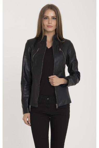 Jacheta din piele IPARELDE MAS-B2014 Black Negru
