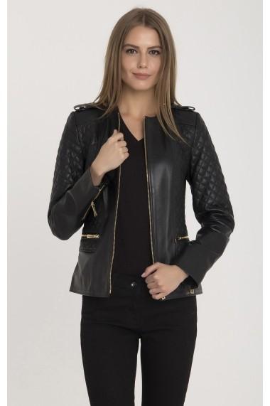 Jacheta din piele IPARELDE MAS-B2122 Black-Gold Negru