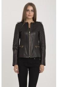 Jacheta din piele IPARELDE MAS-B2122 Brown Maro