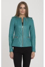 IPARELDE Bőr dzsekik MAS-B2122_Turquoise