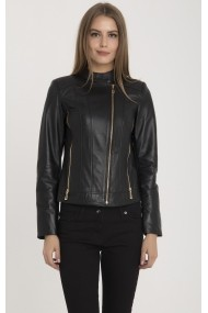 Jacheta din piele IPARELDE MAS-B2174 Black Negru