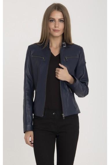 Jacheta din piele IPARELDE MAS-B2327 Blue Albastru