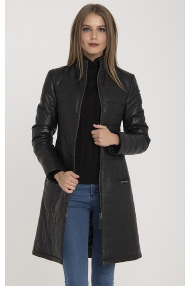 Jacheta din piele IPARELDE MAS-B578F Black Negru