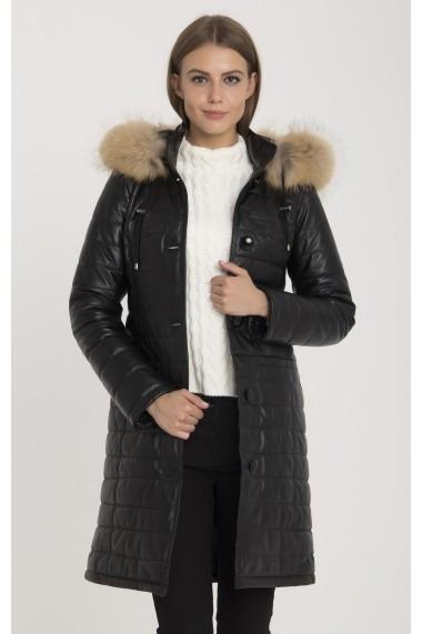Jacheta din piele IPARELDE MAS-B578RA Black Negru - els