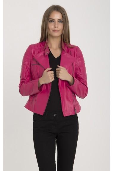 Jacheta din piele IPARELDE MAS-B60 Fuchsia Fucsia