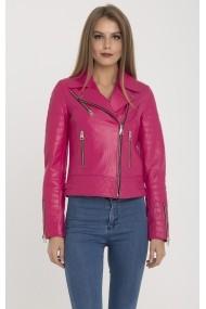 Jacheta din piele IPARELDE MAS-B61 Fuchsia Fucsia