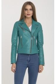 Jacheta din piele IPARELDE MAS-B61 Turquoise Turcoaz