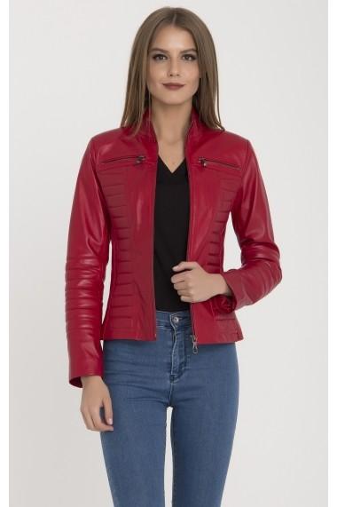 Jacheta din piele IPARELDE MAS-B8124 Red Rosu