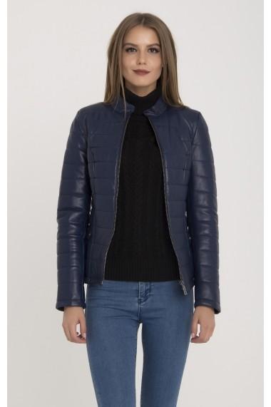 Jacheta din piele IPARELDE MAS-B8489 Navy Blue Bleumarin
