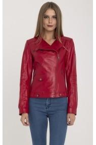 Jacheta din piele IPARELDE MAS-B9218 Red Rosu