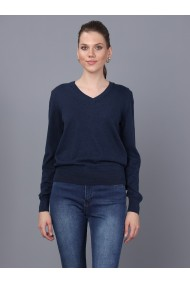 Pulover BASICS & MORE BA207481 Bleumarin