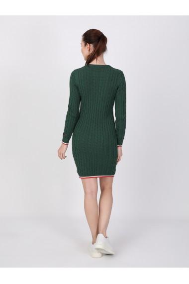 Rochie din tricot BASICS & MORE BA233628 Verde