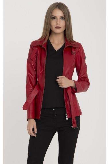 Jacheta din piele IPARELDE MAS-BAZRA Red Rosu - els
