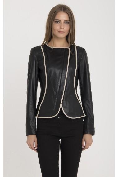Jacheta din piele IPARELDE MAS-BDR02 Black Negru