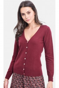 Cardigan C&Jo CJF726 Bordo