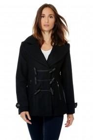 Palton din lana Assuili COPA neagra