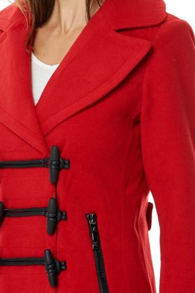 Palton din lana Assuili COPA Rosu