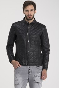 Jacheta din piele IPARELDE MAS-E02 Black Negru