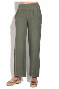 Pantaloni drepti Le Jardin du Lin E18-45 Kaki